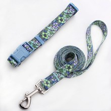 hot sale pet products wholesale custom durable polyester dog collar leash with EU standard