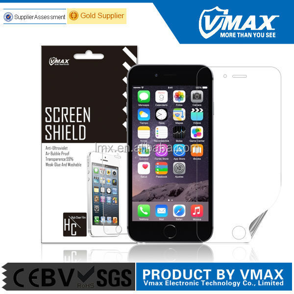 USD 0.05 for screen protector for iphone 6 high clear anti-glare mobile phone accessory
