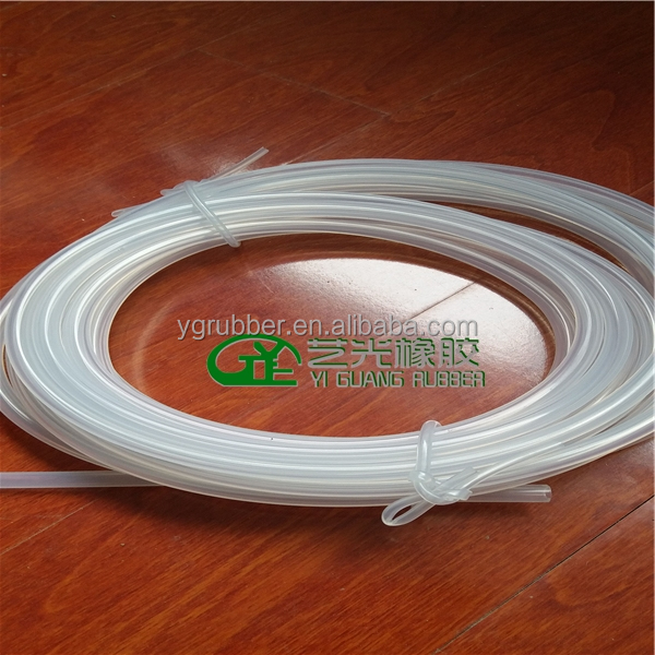 Thin wall thickness silicone rubber tube