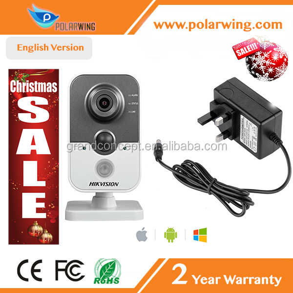 Indoor 4mp Wireless Security Network CCTV DS-2CD2442FWD-IW Hikvision Cube IP Camera