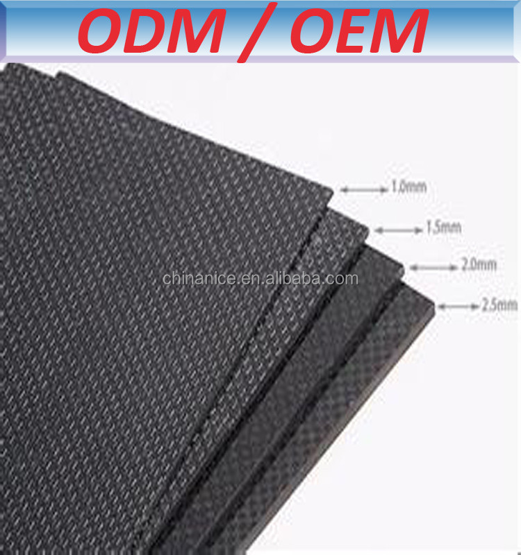 glossy plain weave type square or customized shape carbon fiber sheet