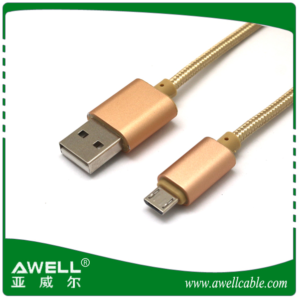AWELL Micro USB Cable Sync wire 3.3ft 1m Nylon Braided Android Charger Cables for Smartphones Samsung Galaxy, Nexus