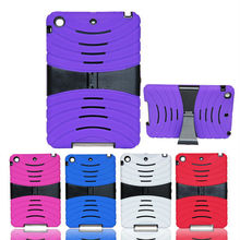 Factory Tablet Case For iPad mini Case,Shock Wave Hybrid Silicone PC Stand Cover