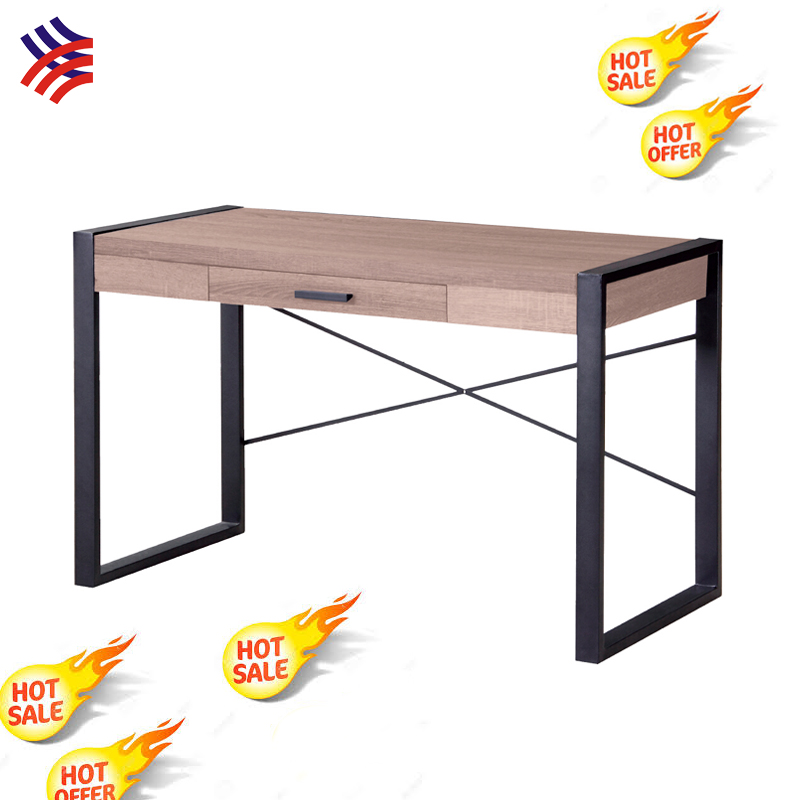 Scandinavian furniture cheap MDF wood top studying table desk office table with metal powder coating