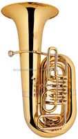 hot selling professional C key gold lacquer Rotary tuba with brass body at competitive price