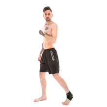 black durable fitness ankle support brace