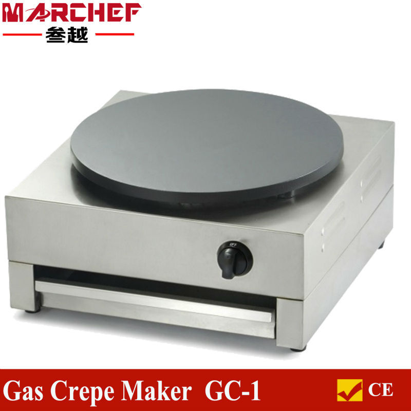 40cm Single Plate LPG Gas Commercial Crepe Maker Machine Non stick Pancake Pan Griddle Gas Type