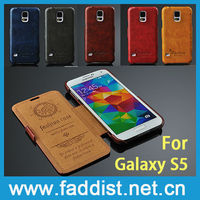 Luxury flip case for Samsung s5 PU leather case factory supplier,for samsung galaxy s5 flip case