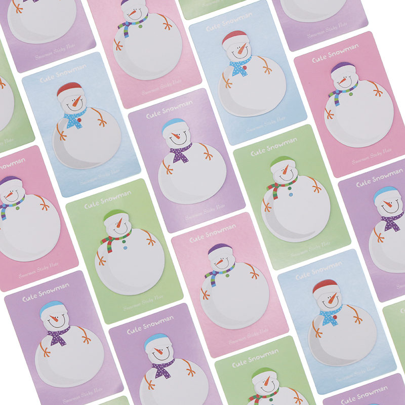 Kawaii Snowman Memo Pad Paper Sticky Notes Stickers Planner Christmas Gift Decoration School Supplies
