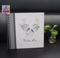 2016 scrapbook wedding photo album style black paper scrapbook spiral album in china yiwu
