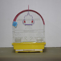 Small Bird Cage Hanging Pet Parrot Finch Canary Birdcage Iron Bird House Removable Bird Cage