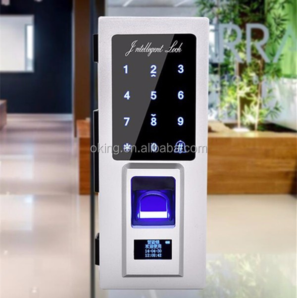 Fingerprint scanner electronic keypad lock for office glass door
