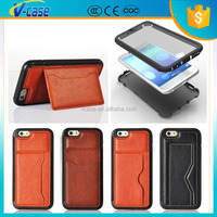 VCASE New Genuine Leather Wallet Stand Case Cell Phone Flip Cover for iphone 6 plus