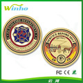Gold plated custom challenge coins