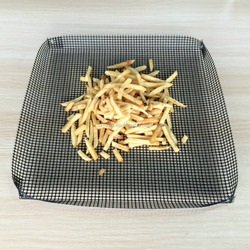 non-stick Qicka chip & pizza mesh oven tray basket for crisper chips &pizza bases