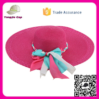 2017 new style Custom multi color Floppy Straw Hats beach sun Party drinking straw hat