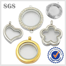 Wholesale Latest Floating Diamond Glass Locket Necklace