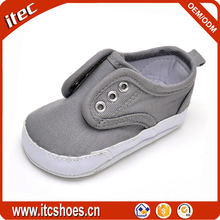 wholesale fancy lovely no lace soft canvas baby shoe without lace