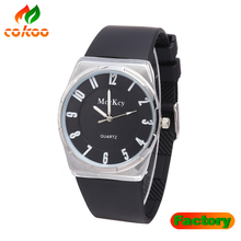 men watch water resistant silicon watch sport style Eco-friendly rubber strap silicone wrist watch for men