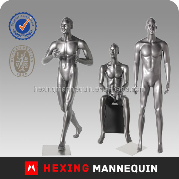 Sliver Glossy Male Showcase Dummy Mannequin
