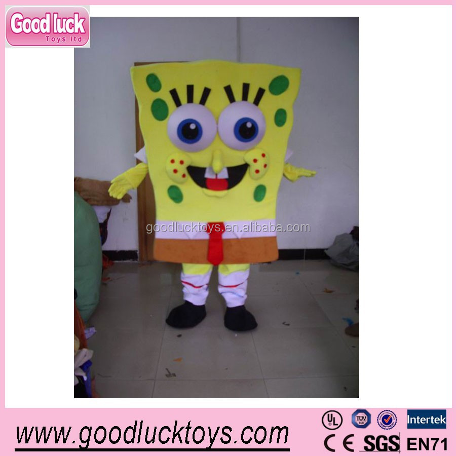 advertising Spongebob squarepants mascot costume,fur mascots/party cartoon costumes