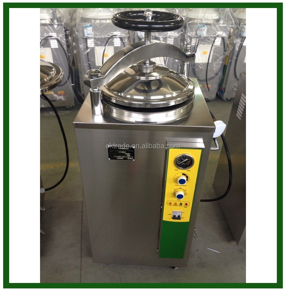 LS-HJ series hot sale laboratory Hand wheel type dental vertical pressure steam sterilizer, autoclave with ISO 35L 50L 75L 100L