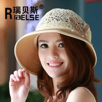 beautiful beach hat for promotion ladies hats paper straw hat
