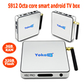 Hot selling! Customized supported high configulation S912 Octo core kofi full loaded real 4K android smart tv box