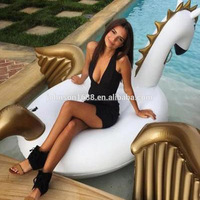 250CM Inflatable Pool Pegasus floats inflatable palm tree floating island In factory stock
