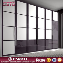 Bedroom furniture wall wardrobe design sliding dooor double color wardrobe