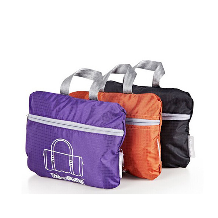 Wholesale lightweight waterproof foldable sports travel duffle gym bag with custom LOGO