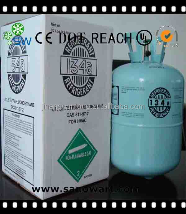 R134a refrigerant gas /HVAC for home appliance/electronics / freezer/auto car/ compressor/ air condition