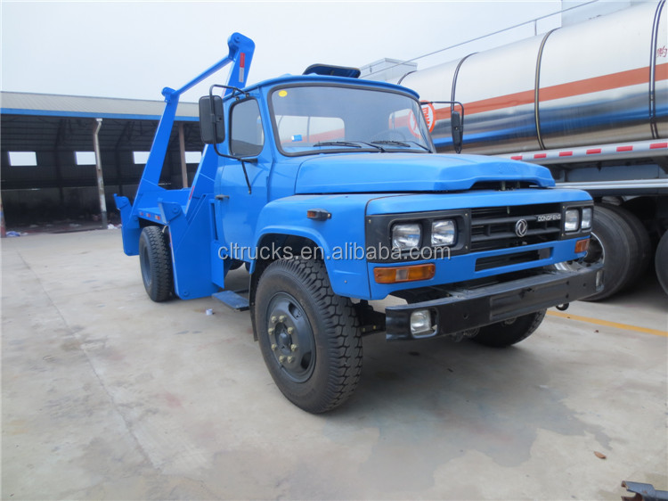 Customized manufacture dongfeng 6m3 skip loader refuse truck