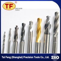 Solid Tungsten Carbide Twist Drills Bits set With Coolant Holes