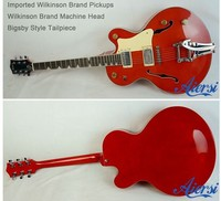 large body Hollow Body Electric Jazz Guitar with Wilkinson Pickup