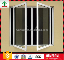 pvc casement window with unbreakable window glass supply for moser