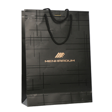 New design good quality cheap black custom paper <strong>bag</strong>