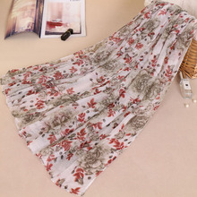 2018 new stylish muslim scarf long viscose print shawls wraps with floral hijabs scarfs women