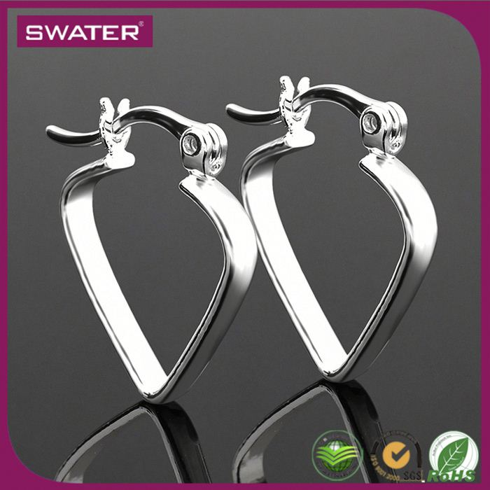 Promotional Items 2016 Silver Heart Afro Girl Earrings