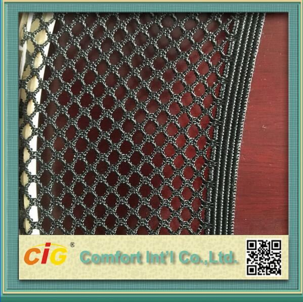 Spandex and strechy hexagonal mesh fabric for bus seat back pocket storage