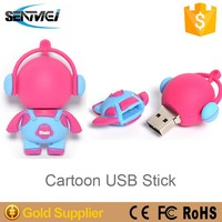 unique design custom plastic 8gb female usb flash drive