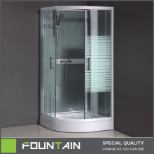 5mm Glass Free Standing Shower Enclosure Guys in The Shower Room