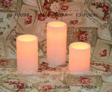 plastic flameless LED candle light with soft painted