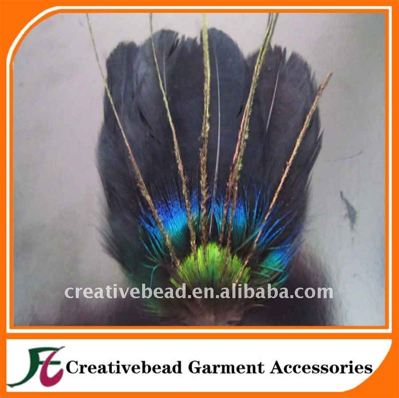feather fascinator headband,feather hairband,feather pad hair accessory,headpiece