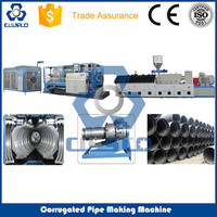 CE STANDARD HDPE DOUBLE WALL CORRUGATED PIPE MACHINE