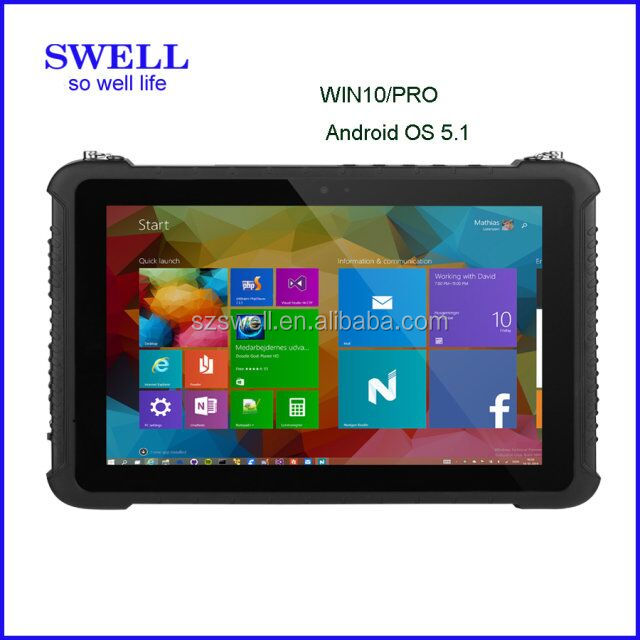 10 inch cheap tablet I10H with window and android os scanner NFC Docking handheld pda rugged fingerprint tablet pc