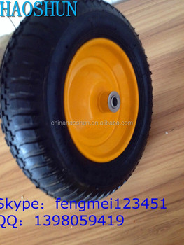 China Supplier Wheelbarrow Wheel With Rim And Ball Bearing 14 ...