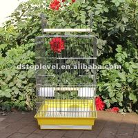 Decorative steel bird cage with chrome plated surface