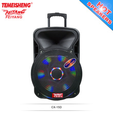 Feiyang Temeisheng portable 15 inch PA speaker for box speakers with best price CX-15D with USB powered dj speakers