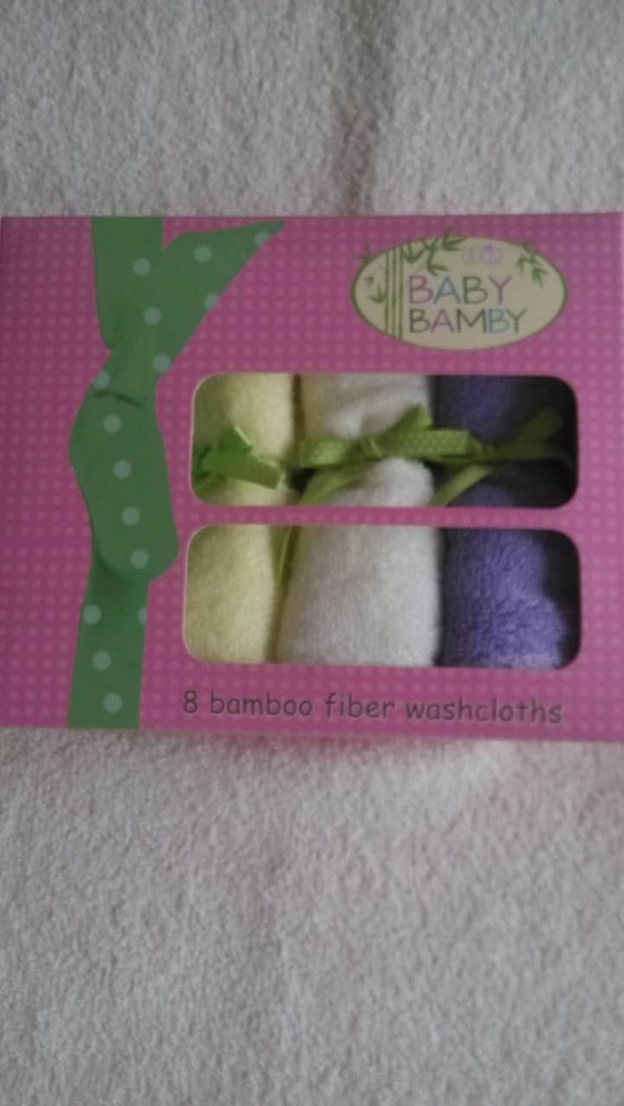 "Organic Bamboo Washcloths 10""x10"" Baby Face <strong>Towel</strong>"
